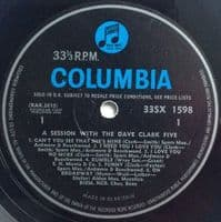 THE DAVE CLARK FIVE Session With The Dave Clark Five Vinyl Record LP Columbia 1964